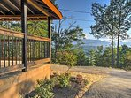 The views from this stunning Sevierville cabin are breathtaking!