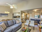 The interior is well-appointed with modern appliances and updates throughout.