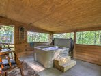 Escape to the foothills of the Rockies and stay at this vacation rental house in Sevierville!