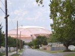 AT&T Stadium from the front yard.  So close, just a short walk away