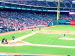 Inside the Ballpark at Arlington. This was the recent Texas Rangers playing the Miami Marlins