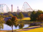 Six Flags over Texas located just 5 miles away.