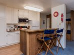 Fully Equipped Kitchen with Seating For Two