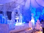 Popular Festival of Ice sculptures in near Hrebienok place in Vysoké Tatry. You can take land lift.