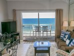 Gorgeous, new and improved Gulf front living room