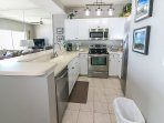 Naturally lit fully equipped kitchen