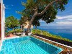 small Jacuzzi plunge pool with excellent views
