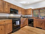 Plenty of room for multiple chef's in the fully equipped kitchen.