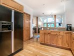 You can still feel part of the group while preparing meals or drinks in the large open kitchen.