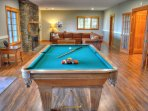 Pool Table on lower level family room