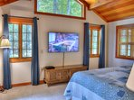 Master Bedroom with Cable TV