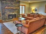 Lower level family room w/Wood Burning Fireplace