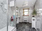 Bathroom (with electric shower, no bath)