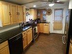 Remodeled Antique kitchen, 20 foot long granite, Bosch dishwasher, icemaker