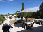 Les terrasses de l'espace piscine