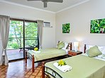 Single bedrooms, air conditioned and own balcony