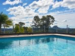Solar-heated guest shared pool and view