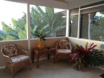 Relax on the screened in lanai