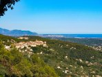 Views from property to cabris 2kms and nice