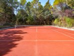 full tennis court shared we have equipment