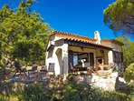 Villa with terrace view to pool and panoramic views