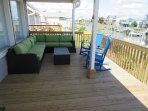 deck seating area