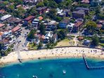 Aerial shot of Little Manly