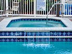 Relax in the jazuzzi on the waterfront deck.