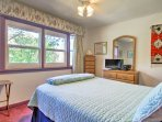 The home provides 2 spacious bedrooms with comfortable queen-sized beds.