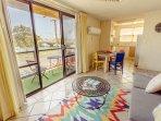lounge/dining/balcony