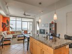 This condo features high-end amenities and comfortable accommodations for 8 guests to enjoy.