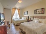 In the second bedroom, you'll enjoy amenities such as a flat-screen cable TV and ample storage for your belongings.