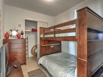 Siblings or friends will love the cozy full-over-full bunk bed.