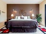 Master bedroom. King egonomic bed