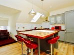 The large bespoke kitchen diner including all brand new appliances