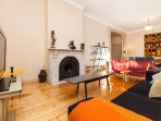 Timber floorboards throughout the living spaces