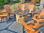 Outdoor Gas Fire Pit with Seating
