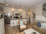 Open floor plan on main level is great for family get togethers.