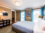 Bedroom 4 with a queen bed, private sitting room and spacious ensuite private bath.