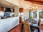 Open kitchen with everything you need including beautiful views.