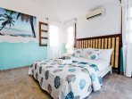 Super cozy and big bed is for your comfort. The room is very spacious, has a TV and a wardrobe