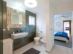 Bathroom, fresh and cozy. It is next to your Master bedroom.