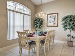 Enjoy quality time with the family around the dinner table with seating for 6.