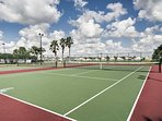 Break a sweat over a game of tennis at the community courts.