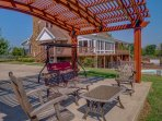 Relax under the pergola and enjoy the pleasant Kentucky breeze during your stay at this 1-bedroom, 2-bathroom vacation ...