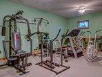 Break a sweat in the workout room!