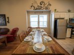 Large kitchen table; great for big family meals and game time!