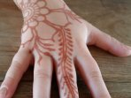 Henna tattoo at the Kids' club