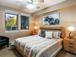 Amazing Moose Painting over King size Bed in the master Suite