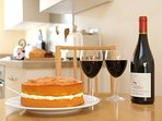 A Victoria sponge cake is included with every booking (wine replaces cake if none available)